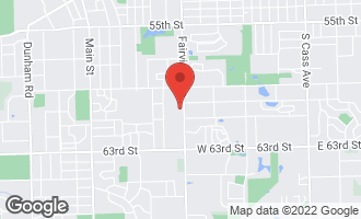 Map of 6014 Fairview Avenue DOWNERS GROVE, IL 60516