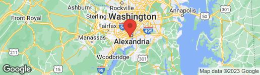 Map of 6014 GROVE DRIVE ALEXANDRIA, VA 22307