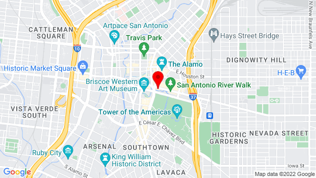 Google Map of 602 E. Commerce, San Antonio, TX 78205