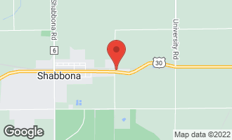 Map of 602 East Camanche Avenue SHABBONA, IL 60550
