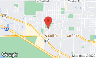 Map of 602 West Victoria Lane ARLINGTON HEIGHTS, IL 60005