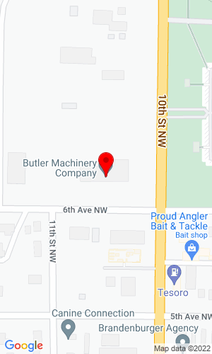 Google Map of Hurkes Implement Co 603 10th St. Nw, Watertown, SD, 57201-6387