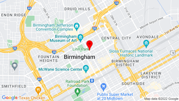 Google Map of 603 Richard Arrington Jr. Blvd N, Birmingham, AL
