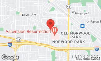 Map of 6036 North Oriole Avenue CHICAGO, IL 60631