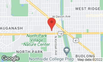 Map of 6041 North St Louis Avenue CHICAGO, IL 60659