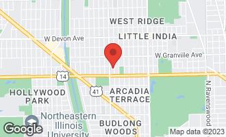 Map of 6044 North Fairfield Avenue #1 CHICAGO, IL 60659