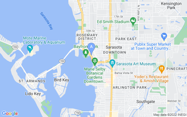 605 S Gulfstream Ave #ph18 Sarasota Florida 34236 locatior map