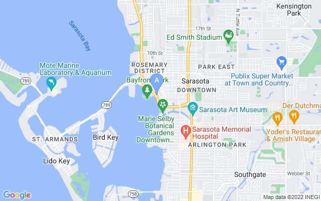 605 S Gulfstream Ave #8N Sarasota Florida 34236 locatior map