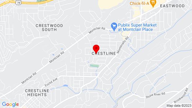 Google Map of 605 Hagood Street, Birmingham, AL 35213