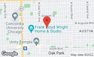 Map of 605 Iowa Street OAK PARK, IL 60302