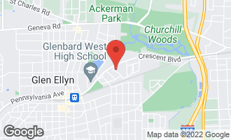 Map of 605 Riford Road GLEN ELLYN, IL 60137