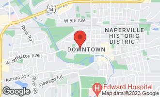 Map of 605 West Jefferson Avenue NAPERVILLE, IL 60540