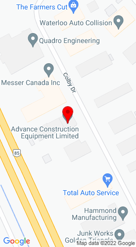 Google Map of Advance Construction Equipment 607 Colby Drive , Waterloo, Ontario, Canada, N2V 1A1