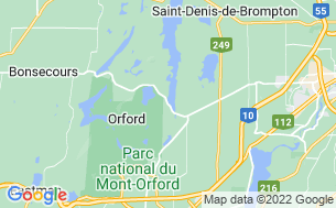 Map of Camping Parc National Du Mont-Orford Lac-Fraser