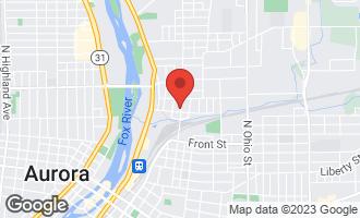 Map of 608 High Street Aurora, IL 60505