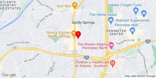 Google Map of 6087 Boylston Drive NE Sandy Springs, GA