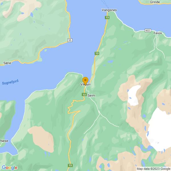Google Map of 61.0871,6.5799006