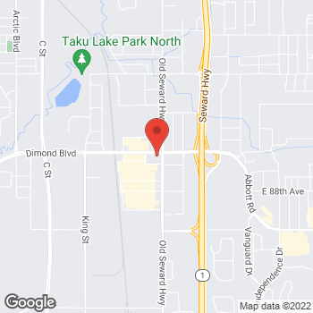 Map of Burger King at 900 East Dimond Blvd, Anchorage, AK 99515
