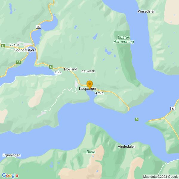 Google Map of 61.18367908904442,7.247025863487238