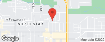 Map of 401 E Fireweed Ln in Anchorage