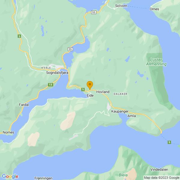 Google Map of 61.20801596198214,7.173948842347272