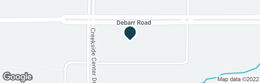 Google Map of7600 DEBARR RD