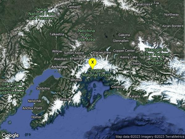 earthquake 65km W of Valdez, Alaska