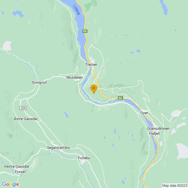 Google Map of 61.2830928,10.306356