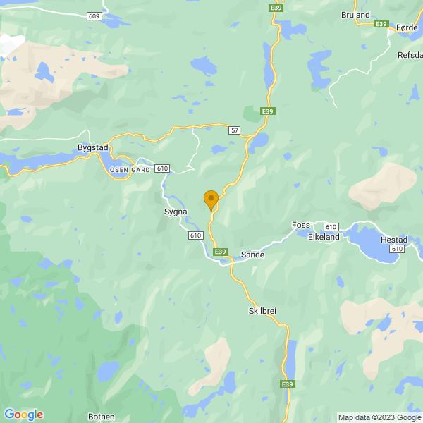 Google Map of 61.3451287,5.757505199999969