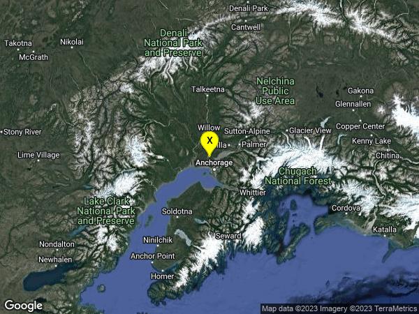 earthquake 13km SSW of Big Lake, Alaska