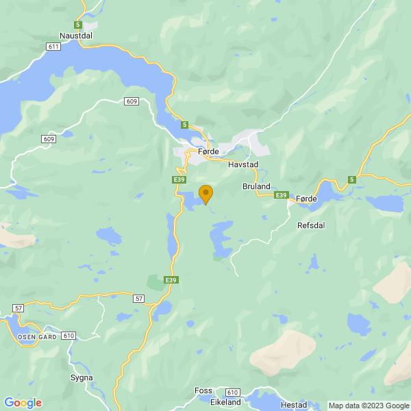 Google Map of 61.4277629,5.84682399999997