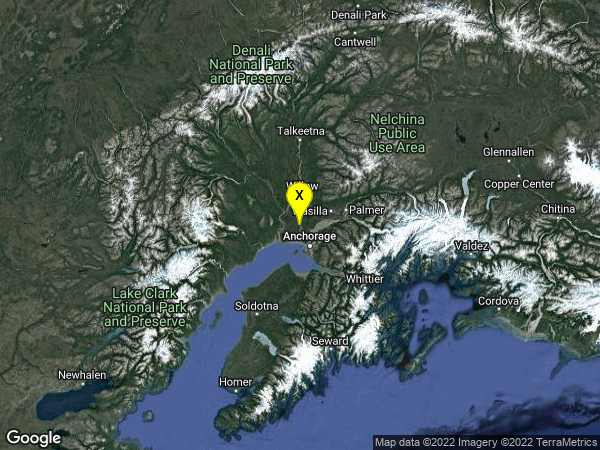 earthquake 12km SW of Big Lake, Alaska