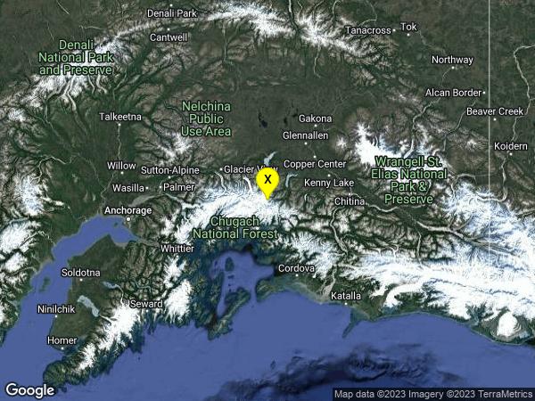 earthquake 35km N of Valdez, Alaska