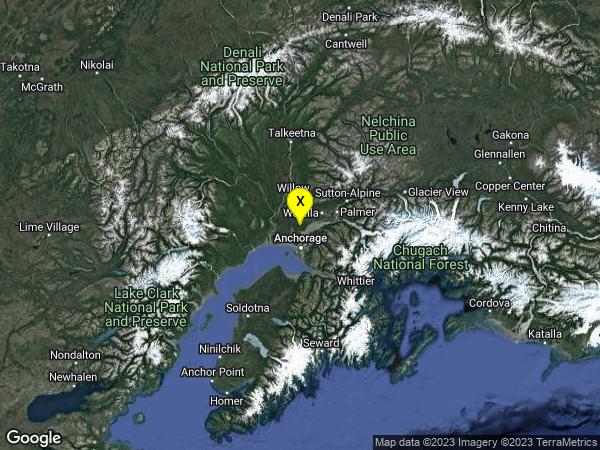 earthquake 7km SSE of Big Lake, Alaska