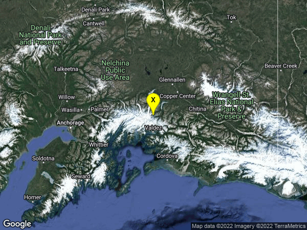 earthquake 39km N of Valdez, Alaska
