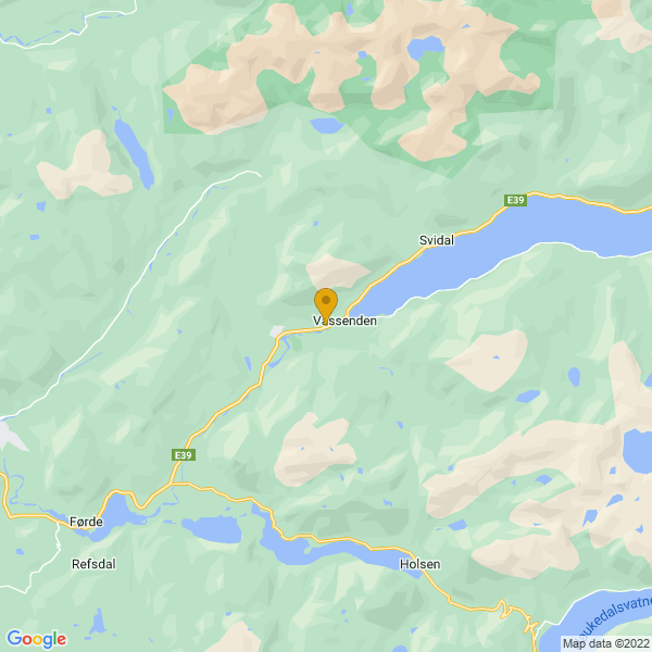 Google Map of 61.4900541,6.099684199999956