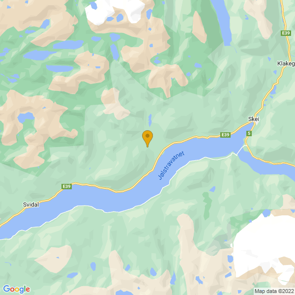 Google Map of 61.5539435,6.332587900000021
