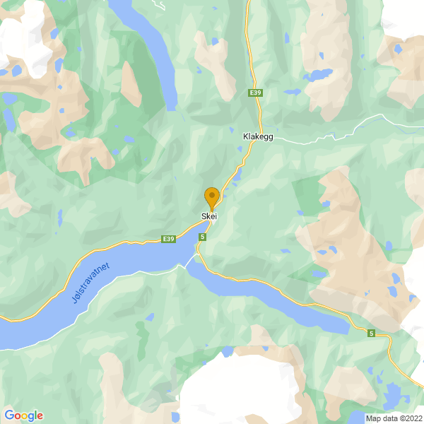Google Map of 61.57478899999999,6.483178100000032