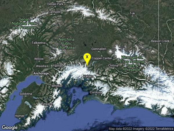 earthquake 46 km SSE of Nelchina, Alaska