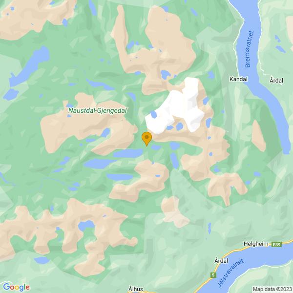 Google Map of 61.62666669999999,6.2472221