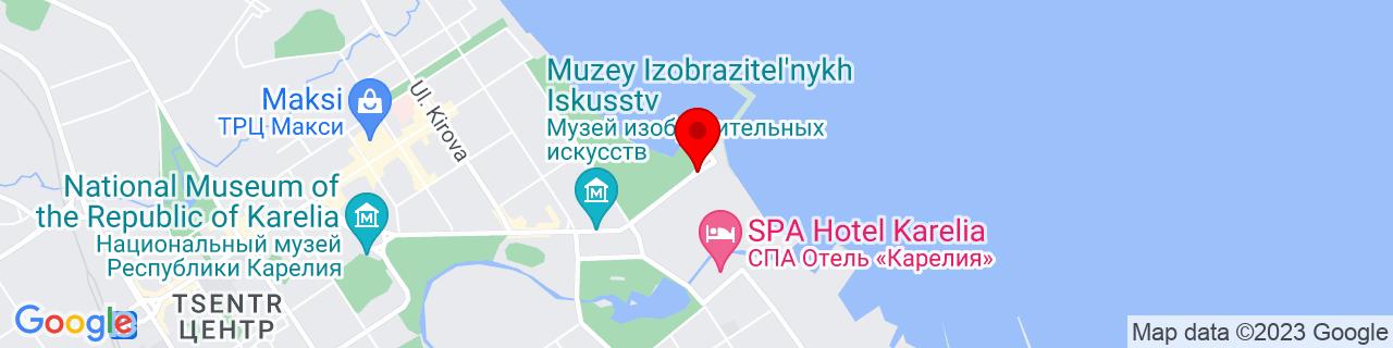 Google Map of 61.7900373, 34.3900084