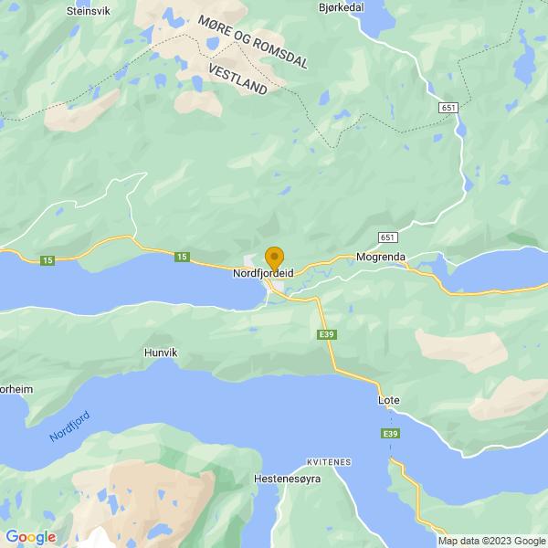 Google Map of 61.9116568,5.993846500000018