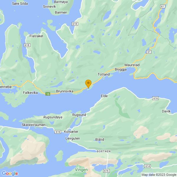Google Map of 61.91642,5.350899999999998