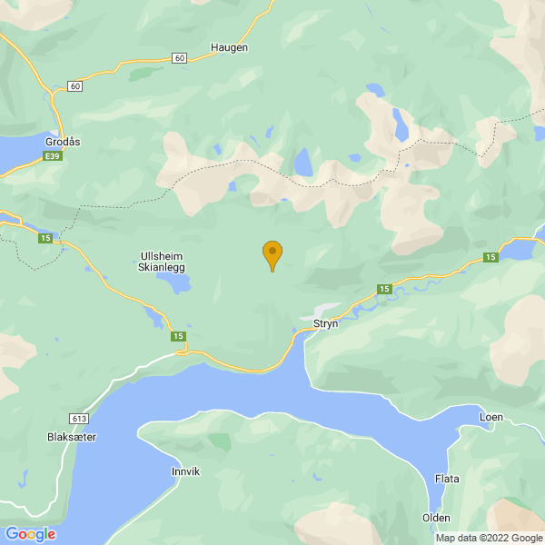 Google Map of 61.92256680000001,6.6827307