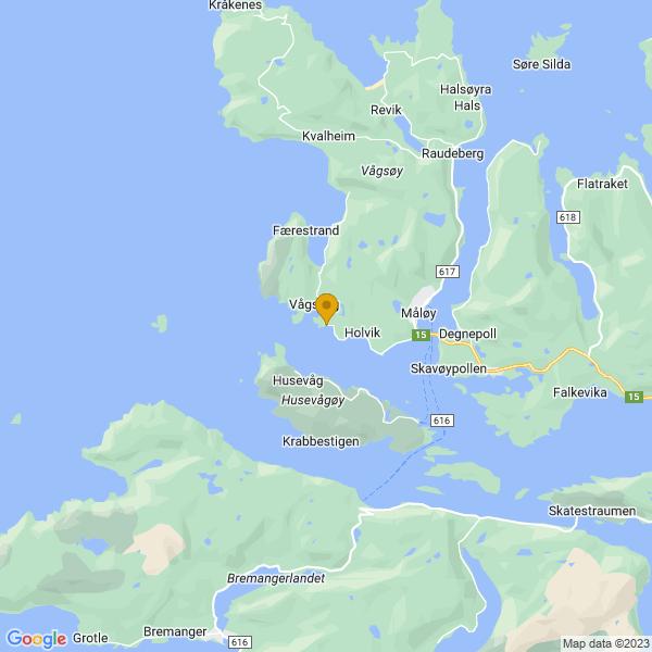 Google Map of 61.9315172366773,5.055161811123923