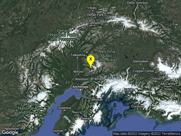 earthquake 24km N of Fishhook, Alaska