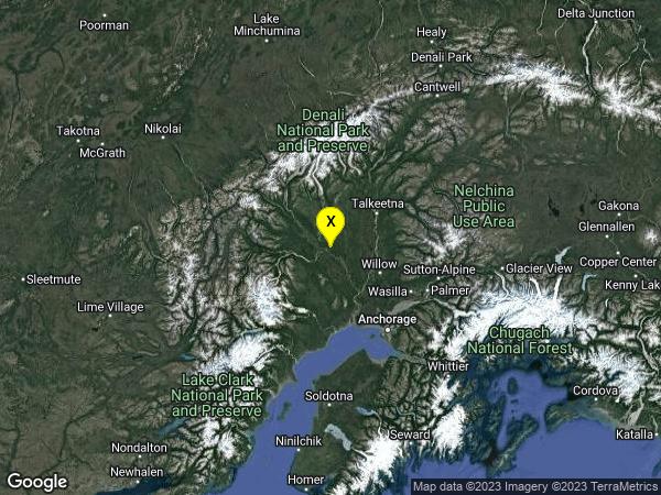 earthquake 59km WNW of Willow, Alaska