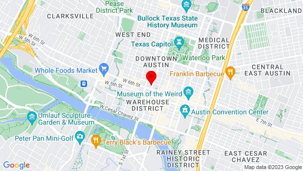 Google Map of 610 Lavaca, Austin, TX