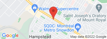 Google Map of 6100%2C+Boulevard+Decarie%2CMontreal%2CQuebec+H3X+2J9