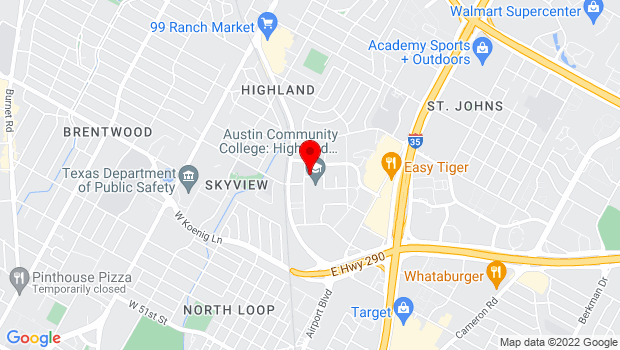 Google Map of 6101 Airport Blvd, Austin, TX 78752